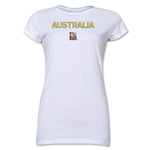 Australia FIFA Women's World Cup Canada 2015(TM) Junior Women's T-Shirt (White)