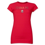 China FIFA Women's World Cup Canada 2015(TM) Junior Women's T-Shirt (Red)