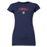 Japan FIFA Women's World Cup Canada 2015(TM) Junior Women's T-Shirt (Navy)