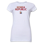 South Korea FIFA Women's World Cup Canada 2015(TM) Junior Women's T-Shirt (White)
