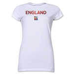 England FIFA Women's World Cup Canada 2015(TM) Junior Women's T-Shirt (White)