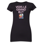 FIFA Women's World Cup Canada 2015(TM).Junior Women's French Slogan T-Shirt (Black)