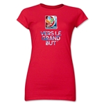 FIFA Women's World Cup Canada 2015(TM).Junior Women's French Slogan T-Shirt (Red)
