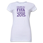 FIFA Women's World Cup Canada 2015(TM).Junior Women's French Logotype T-Shirt (White)