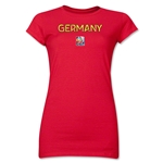 Germany FIFA Women's World Cup Canada 2015(TM) Junior Women's T-Shirt (Red)