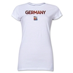 Germany FIFA Women's World Cup Canada 2015(TM) Junior Women's T-Shirt (White)