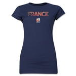 France FIFA Women's World Cup Canada 2015(TM) Junior Women's T-Shirt (Navy)