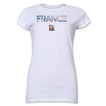France FIFA Women's World Cup Canada 2015(TM) Junior Women's T-Shirt (White)