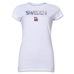 Sweden FIFA Women's World Cup Canada 2015(TM) Junior Women's T-Shirt (White)