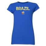 Brazil FIFA Women's World Cup Canada 2015(TM) Junior Women's T-Shirt (Royal)