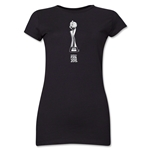 FIFA Women's World Cup Canada 2015(TM).Junior Women's French Trophy 1 T-Shirt (Black)