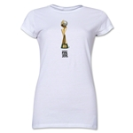 FIFA Women's World Cup Canada 2015(TM).Junior Women's French Trophy 2 T-Shirt (White)