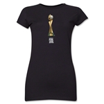 FIFA Women's World Cup Canada 2015(TM).Junior Women's French Trophy 2 T-Shirt (Black)
