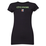 Cote d'Ivoire FIFA Women's World Cup Canada 2015(TM) Junior Women's T-Shirt (Black)