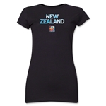 New Zealand FIFA Women's World Cup Canada 2015(TM) Junior Women's T-Shirt (Black)