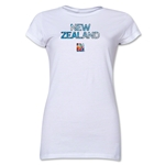 New Zealand FIFA Women's World Cup Canada 2015(TM) Junior Women's T-Shirt (White)