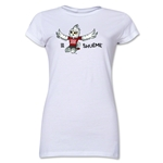FIFA Women's World Cup Canada 2015(TM) Junior Women's Mascot II T-Shirt (White)