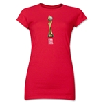 FIFA Women's World Cup Canada 2015(TM) Junior Women's Trophy II T-Shirt (Red)