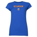 Ecuador FIFA Women's World Cup Canada 2015(TM) Junior Women's T-Shirt (Royal)