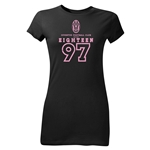 Juventus Eighteen 97 Junior Women's T-Shirt (Black)