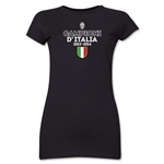 Juventus 2014 Champions Junior Women's T-Shirt (Black)