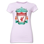 Liverpool Crest Junior Women's T-Shirt (Pink)
