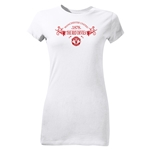 Manchester United Red Devils Junior Women's T-Shirt (White)