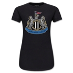 Newcastle United Crest Junior Women's T-Shirt (Black)