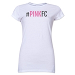 Pink FC Junior Women's T-Shirt (White)