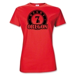 Rugby Oregon Women 7's T-Shirt (Red)
