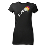 Puro Futebol Icon Repeat Junior Women's T-Shirt (Black)
