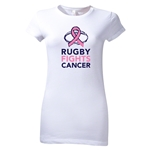 Rugby Fights Cancer Junior Women's T-Shirt (White)