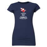 FC Santa Claus Milk and Cookies Jr. Women's T-Shirt (Navy)