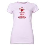 FC Santa Claus Milk and Cookies Jr. Women's T-Shirt (Pink)