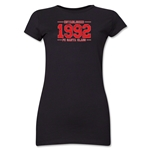 FC Santa Claus Established 1992 Jr. Women's T-Shirt (Black)