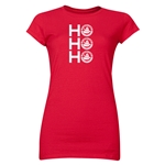 FC Santa Claus Ho, Ho, Ho Jr. Women's T-Shirt (Red)