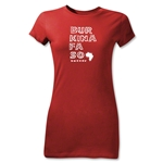 Burkina Faso Junior Women's Country T-Shirt (Red)