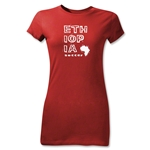 Ethiopia Junior Women's Country T-Shirt (Red)