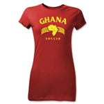 Ghana Junior Women's Country T-Shirt (Red)