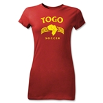 Togo Junior Women's Country T-Shirt (Red)