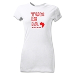 Tunisia Junior Women's Country T-Shirt (White)