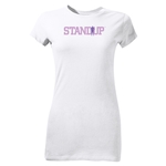 StandUp Purple Logo Junior Women's T-Shirt (White)