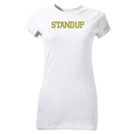 StandUp Olive Logo Junior Women's T-Shirt (White)