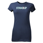 StandUp Pastel Logo Junior Women's T-Shirt (Navy)