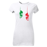 Cleats Graphic Junior Women's T-Shirt (White)