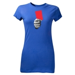 Red Card Graphic Junior Women's T-Shirt (Royal)