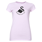 Swansea City Core Logo Junior Women's T-Shirt (Pink)
