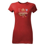 UEFA Champions League Winners Jr. Womens T-Shirt (Red)