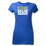 I Scrum on the Beach Junior Women's T-Shirt (Royal)