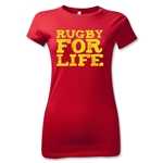 Rugby For Life Junior Women's T-Shirt (Red)